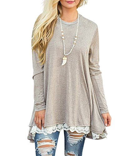 b20825c434b Purchasing note Color may be lighter or darker due to the different screen  display. Also wear this tunic blouses with skinny jeans and boots.