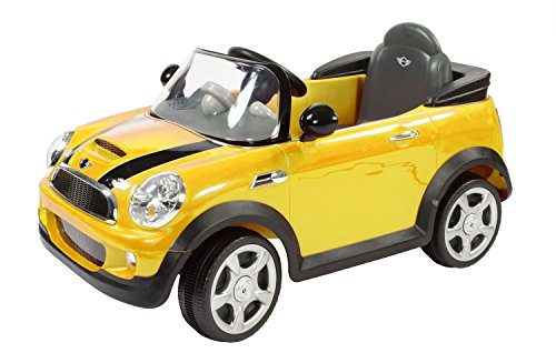 rollplay mini cooper 6 volt battery powered ride on yellow cocoaho. Black Bedroom Furniture Sets. Home Design Ideas