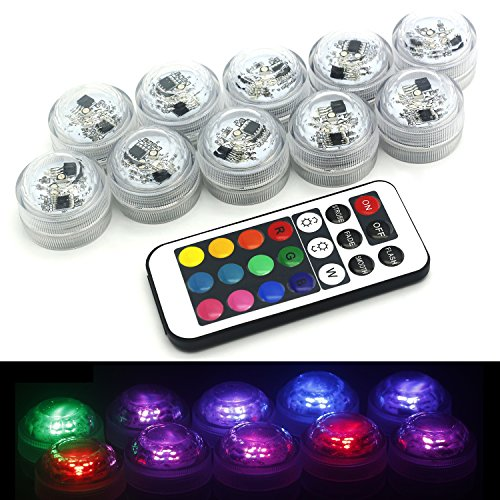 Hoaey Submersible Led Tea Lights With Remote Control Multi