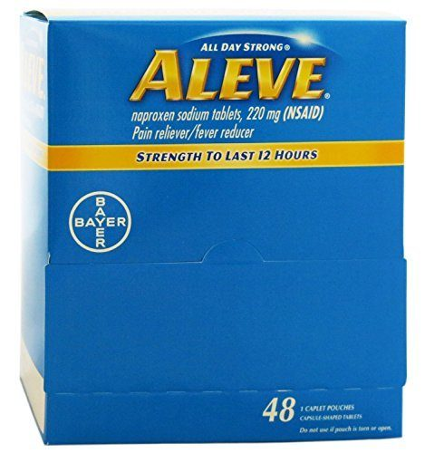 Aleve Individual Sealed 1 Caplet In A Packet Box Of 48