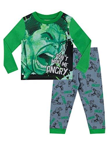 Marvel Little Boys Toddler Incredible Hulk Smash Short Sleeve T Shirt Kelly 3t
