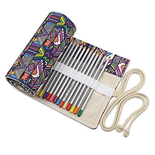 btsky canvas colored pencil roll wrap 72 slot adult. Black Bedroom Furniture Sets. Home Design Ideas