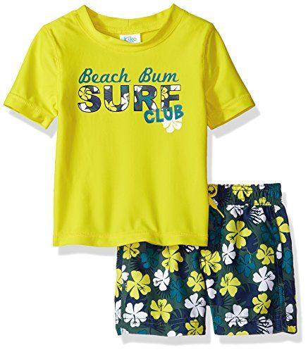 Kiko & Max Baby Boys Set with Short Sleeve Rashguard Swim ...